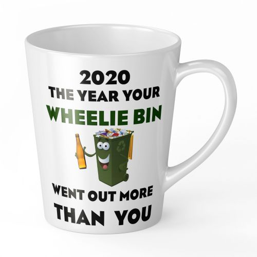 12oz 2020 The Year Your Wheelie Bin Went Out More Than You Funny Latte Mug